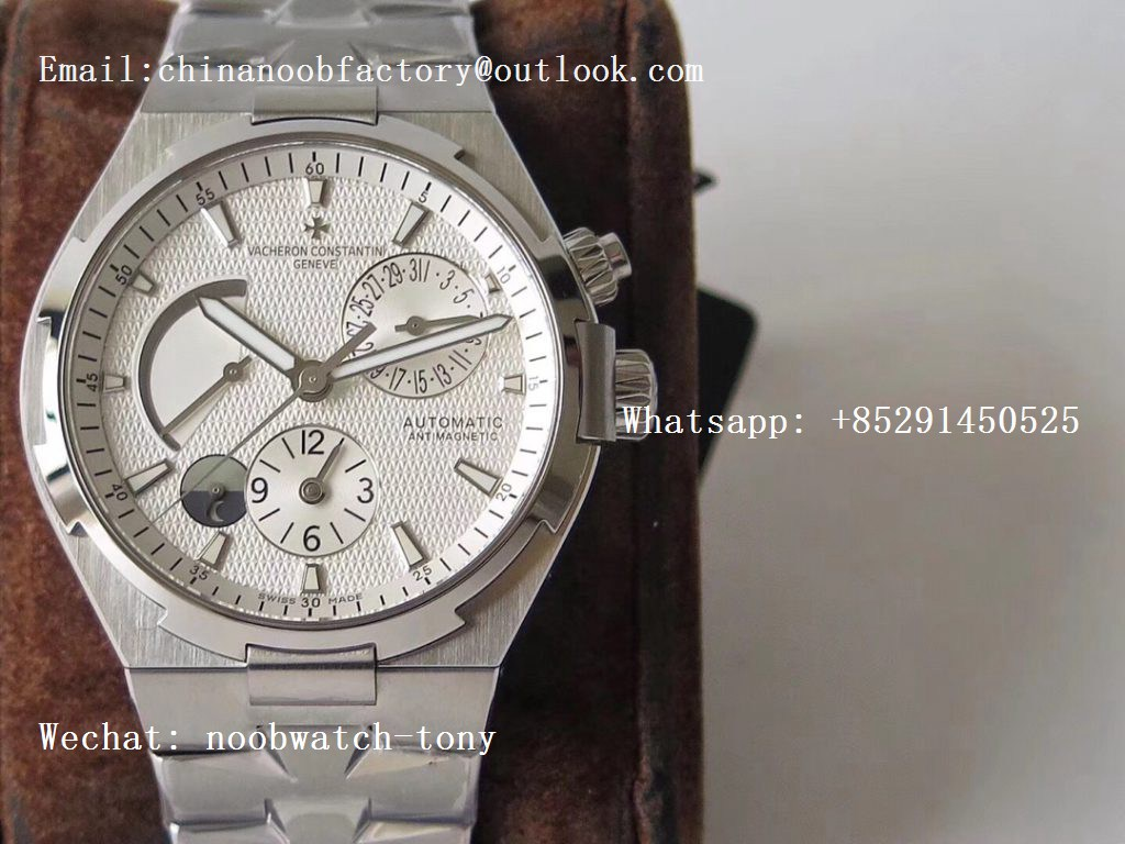 Replica Vacheron Constantin VC Overseas Dual Time Power Reserve TWA Best Edition White Dial on SS Bracelet A1222