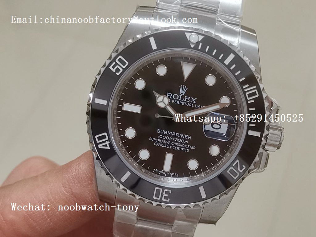 Replica Rolex Submariner 116610 LN Date Black Ceramic ZZF 904L 1:1 Best Edition SA3135 V2