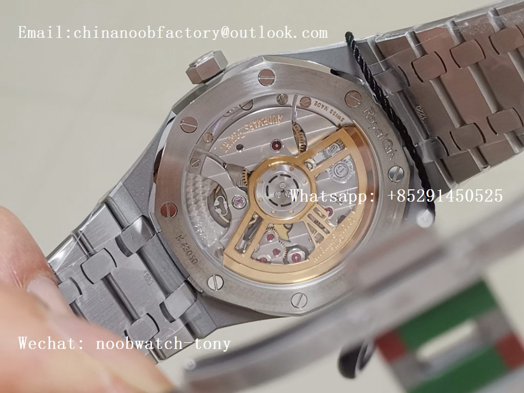 Replica Audemars Piguet AP Royal Oak 41mm 15500 SS ZF 1:1 Best Edition Blue Textured Dial on SS Bracelet A4302 (Free Box)