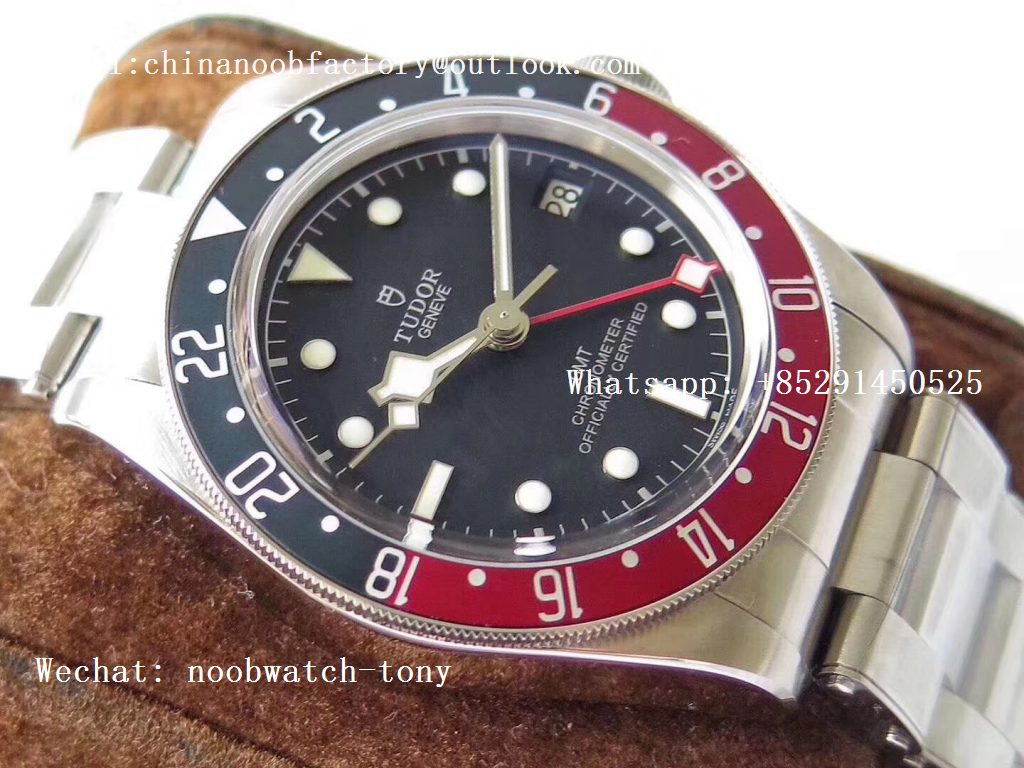 Replica Tudor Black Bay GMT Pepsi Blue/Red Bezel ZF 1:1 Best Edition on SS Bracelet A2836