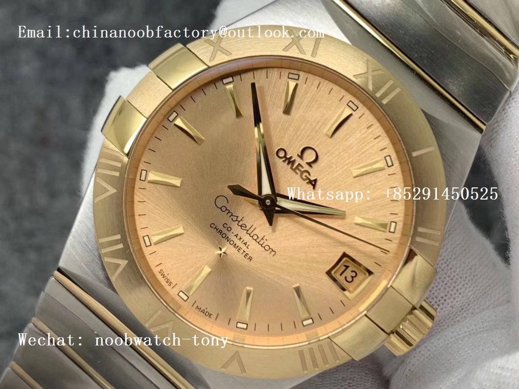 Replica OMEGA Constellation 38mm SS/Yellow Gold VSF 1:1 Best Edition A8500 Super Clone