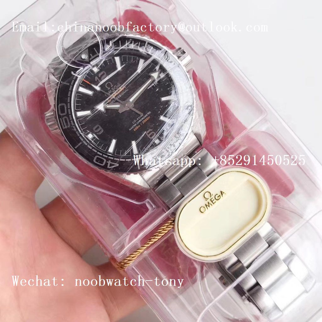 Replica OMEGA Planet Ocean 43.5mm SS VSF 1:1 Best Edition Black Ceramic Bezel and Dial on SS Bracelet A8900 Super Clone