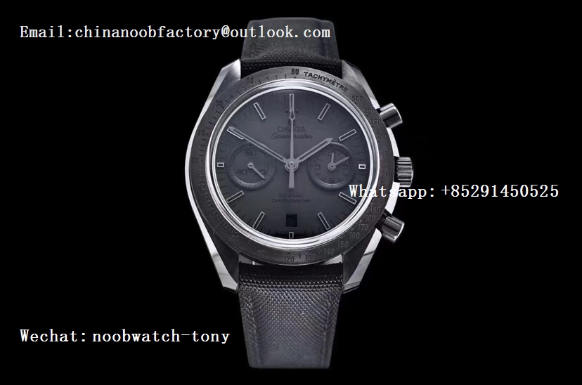 Replica OMEGA Speedmaster Moonwatch Dark Side of The Moon Real Ceramic OMF 1:1 Best Edition Black Black on Nylon Strap A9300