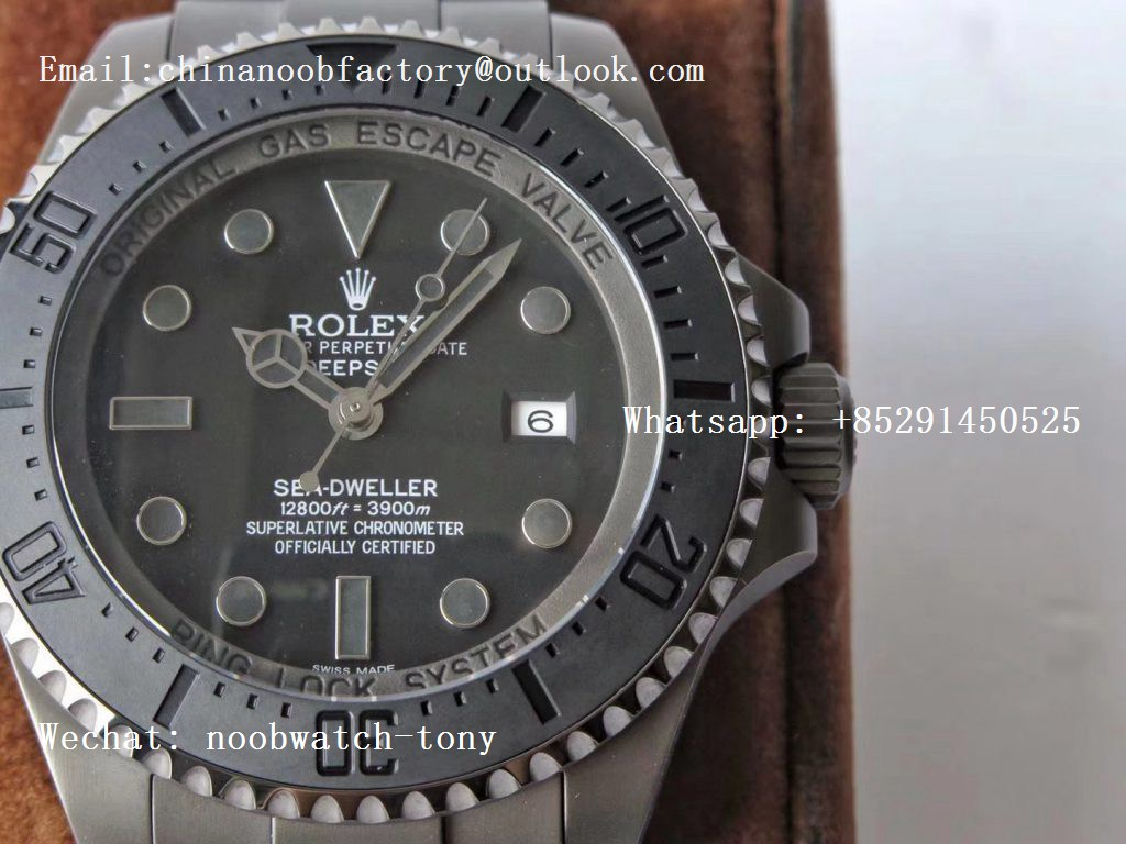 Replica Rolex Sea-Dweller 116660 PVD VRF Best Edition Black Dial on SS Bracelet A2836