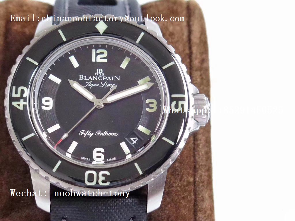 Replica Blancpain Fifty Fathoms 5015C Black Dial SS ZF ZF 1:1 BEST EDITION A1315