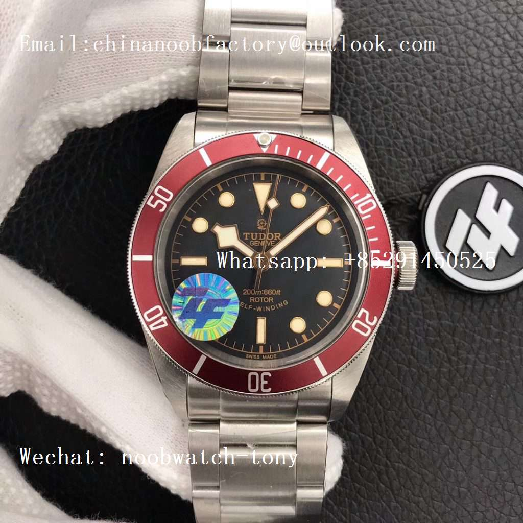 Replica Tudor Heritage 2016 Black Bay Shield ZF 1:1 Best Edition on SS Bracelet A2824 (Red)