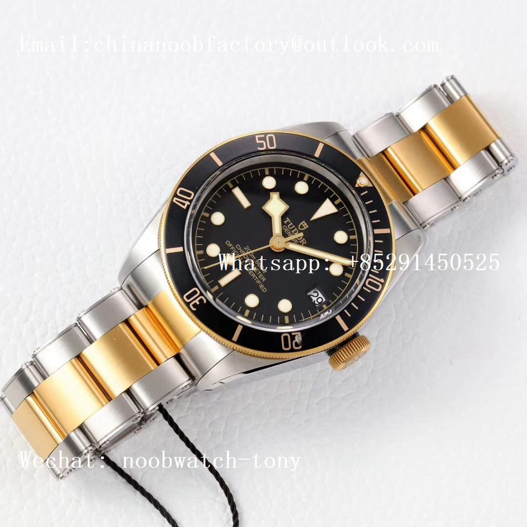 Replica Tudor Heritage Black Bay Yellow Gold/Steel 2017 ZF 1:1 Best Edition on SS Bracelet A2824