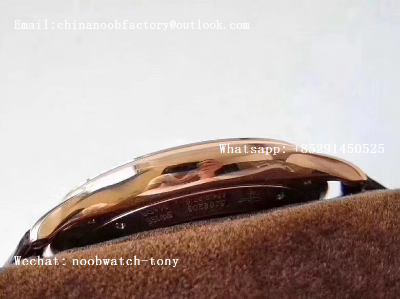 Replica Jaeger Lecoultre JLC Master Ultra Thin Date 1282510 Rose Gold ZF 1:1 Best Edition Eggshell Beige Dial on Brown Leather Strap A899/1