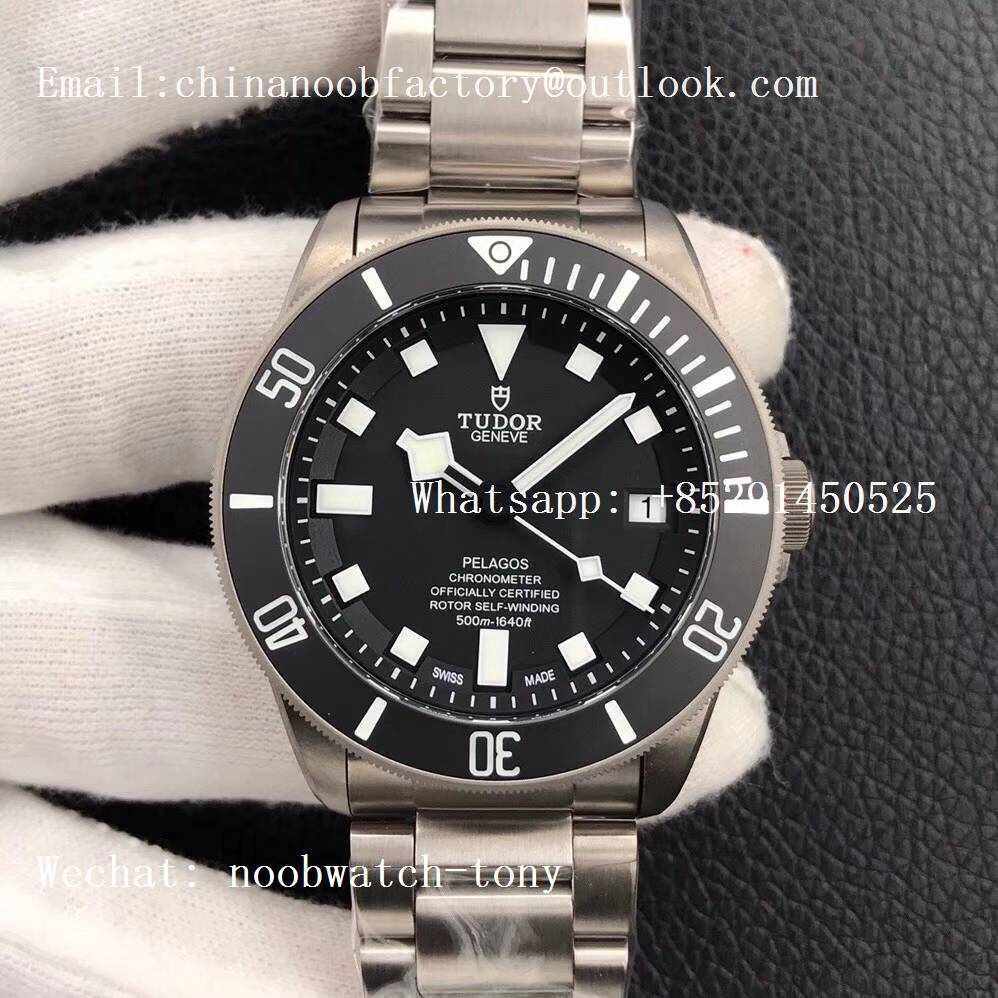 Replica Tudor Pelagos Black V6F XF 1:1 Best Edition on Titanium Bracelet A5612 V4 (Free Black Rubber Strap)