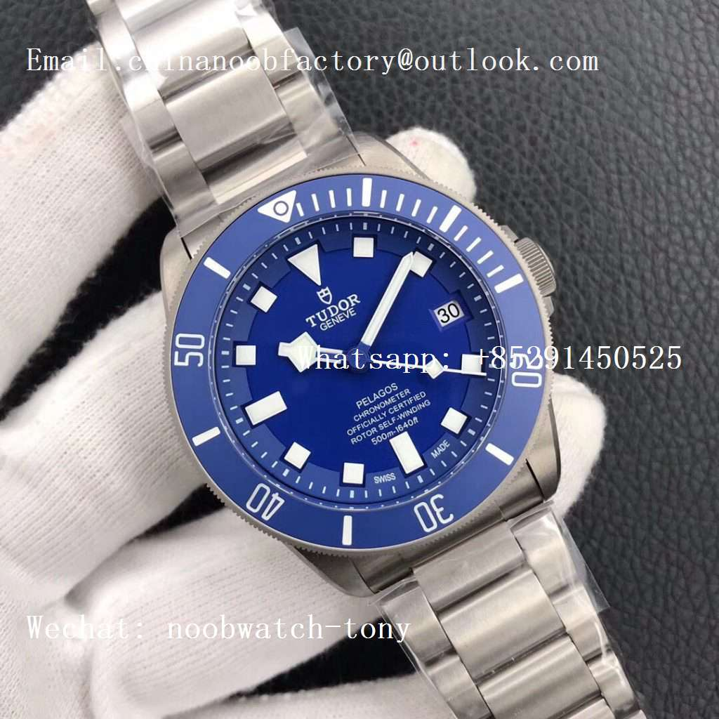 Replica Tudor Pelagos Blue V6F XF 1:1 Best Edition on Titanium Bracelet A5612 V4 (Free Black Rubber Strap)