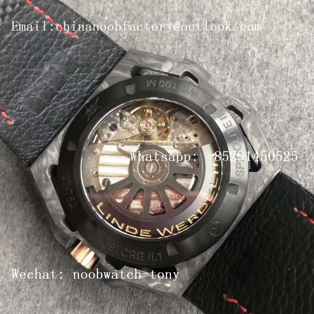 Replica Linde Werdelin Spidolite II Tech Gold Forge Carbon V6F 1:1 Best Edition on Black Nylon Strap A7750 V2
