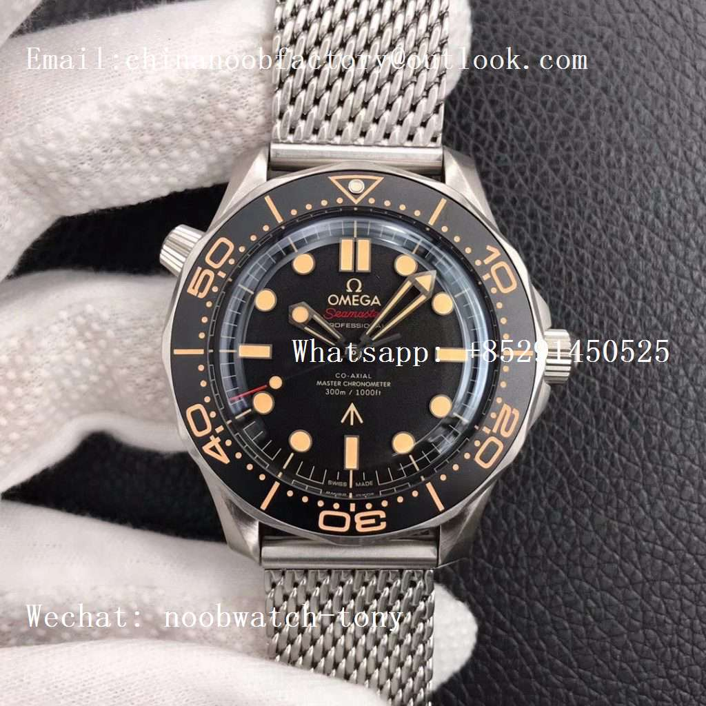 Replica OMEGA Seamster 300 No Time to Die Limited Edition VSF 1:1 Best Edition on SS Mesh Bracelet (Free Nato)