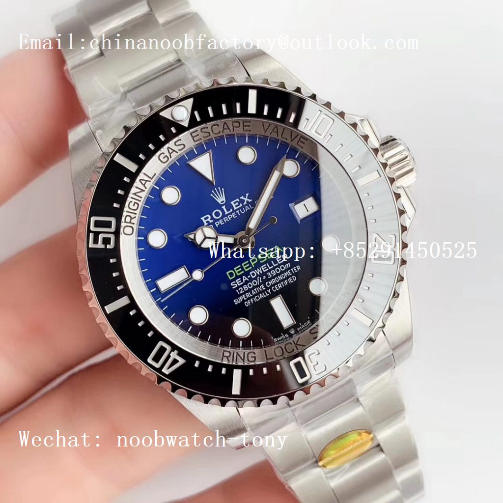 Replica Rolex Sea-Dweller Deepsea Blue James Cameron 126660 D-Blue Noob 1:1 Best Edition 904L A3235 Clone