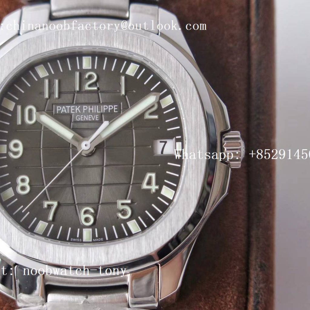 Replica PATEK PHILIPPE Aquanaut 5167A SS ZF 1:1 Best Edition Black Dial on SS Bracelet 324CS