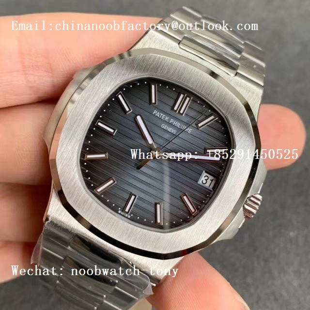 Replica Patek Philippe Nautilus 5711/1A 3KF 1:1 Best Edition Blue Textured Dial on SS Bracelet A324 Super Clone