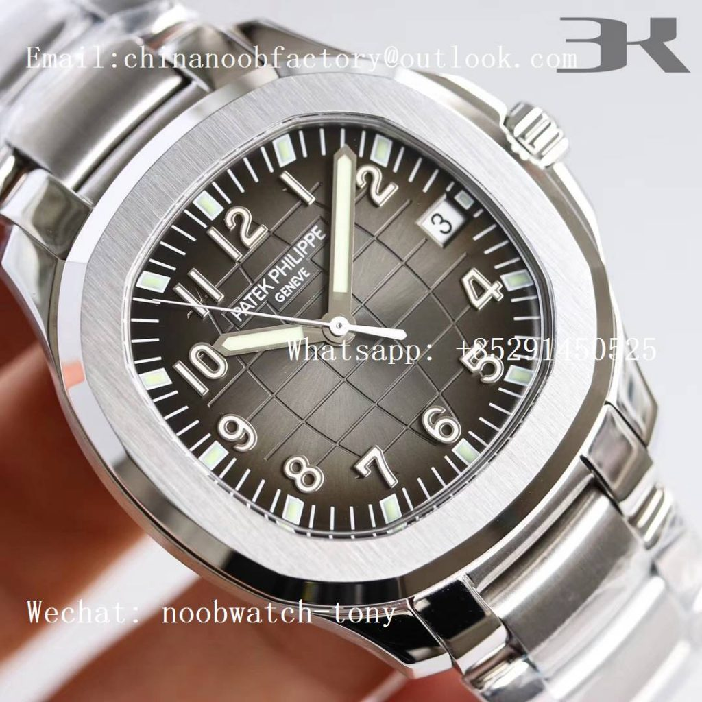 Replica Patek Philippe Aquanaut 5167 SS 3KF Best Edition Gray Dial on SS Bracelet A324 Super Clone
