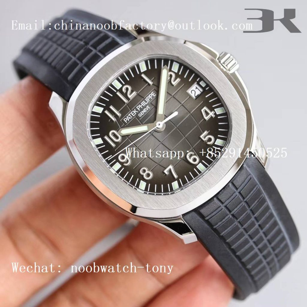 Replica Patek Philippe Aquanaut 5167 3KF 1:1 Best Edition Black Dial on Black Rubber Strap A324 Super Clone